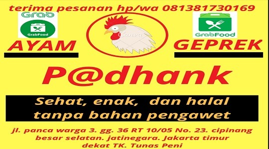 Ayam Geprek Azka Cipinang Besar Selatan Food Delivery Menu