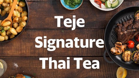 Teje Signature Thai Tea Purwomartani Makanan Delivery Menu